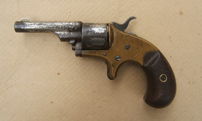 A VERY GOOD UNTOUCHED .22 CALIBER OPEN-TOP POCKET MODEL REVOLVER, ca. 1870s view 1