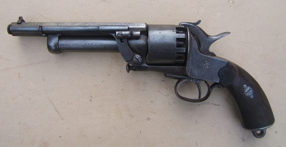 A VERY SCARCE AMERICAN CIVIL WAR PERIOD CONFEDERATE SECOND MODEL LEMAT REVOLVER SN. 1,5XX, ca. 1860s view 1
