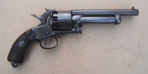 A VERY SCARCE AMERICAN CIVIL WAR PERIOD CONFEDERATE SECOND MODEL LEMAT REVOLVER SN. 1,5XX, ca. 1860s view 2