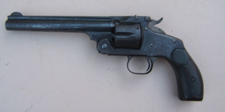 A VERY GOOD & DESIRABLE (.44 S&W CAL.)  SMITH & WESSON MODEL No. 3 SINGLE ACTION REVOLVER, ca. 1890 (SN 30,XXX) view 2