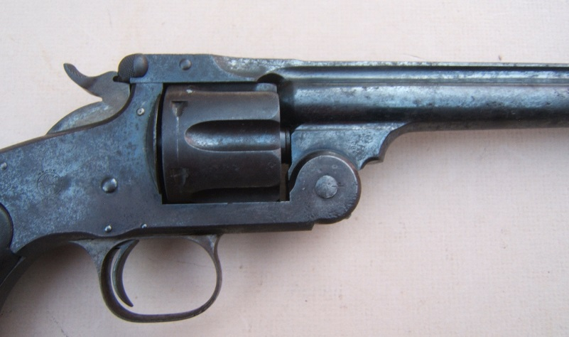 A VERY GOOD & DESIRABLE (.44 S&W CAL.)  SMITH & WESSON MODEL No. 3 SINGLE ACTION REVOLVER, ca. 1890 (SN 30,XXX) view 3
