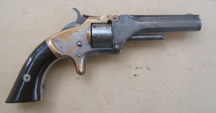 A GOOD+ AMERICAN CIVIL WAR PERIOD SMITH & WESSON MODEL No. 1 2nd ISSUE REVOLVER, ca. 1865 view 1
