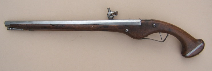 AN EARLY 17th CENTURY/30-YEARS WAR PERIOD GERMAN MILITARY WHEELOCK PISTOL, ca. 1620 view 2