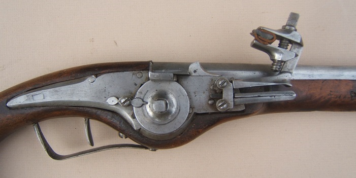 AN EARLY 17th CENTURY/30-YEARS WAR PERIOD GERMAN MILITARY WHEELOCK PISTOL, ca. 1620 view 3