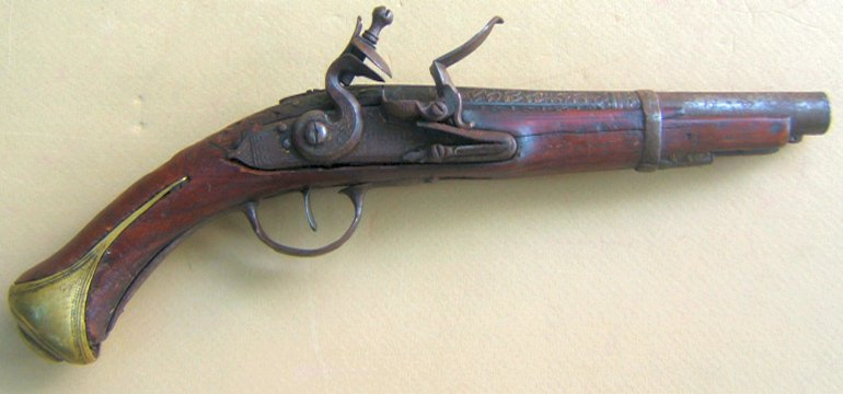 AN UNTOUCHED TURKISH FLINTLOCK HOLSTER PISTOL, ca. 1780-1820 view1
