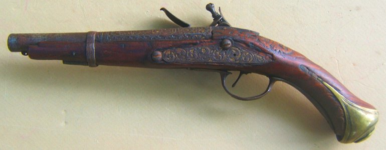 AN UNTOUCHED TURKISH FLINTLOCK HOLSTER PISTOL, ca. 1780-1820 view2
