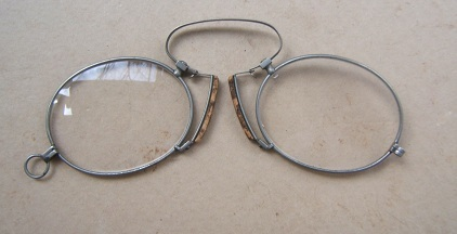 A Fine Pair of Late 19th Century Pinch Nez (Theodore Roosevelt Type) Eye-Glasses, ca. 1890 view1