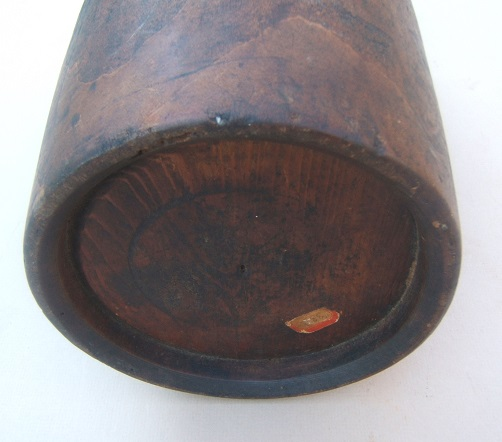 "A VERY LARGE & SCARCE REVOLUTIONARY WAR PERIOD AMERICAN RUNLET-TYPE ""WAGON"" CANTEEN, ca. 1770 view3"