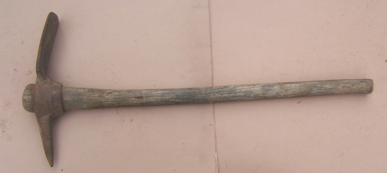 "A VERY GOOD GREAT DEPRESSION ERA ""WPA"" MARKED GRUB-AXE, ca. 1930s view1"