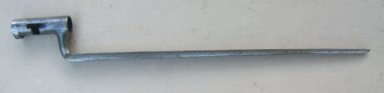 "AN UNISSUED US MODEL 1816 ""NATIONAL ARMORY BRIGHT"" SOCKET BAYONET, ca. 1830s view 1"