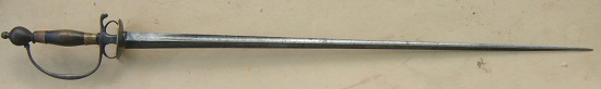 A FINE FRENCH & INDIAN/REVOLUTIONARY WAR PERIOD AMERICAN? SMALLSWORD, ca. 1760 view 1