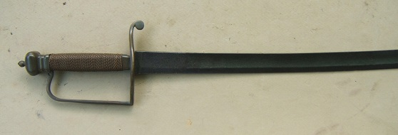 A VERY GOOD AMERICAN REVOLUTIONARY WAR PERIOD HORSEMAN'S SABER/HANGER, ca. 1770 view 1