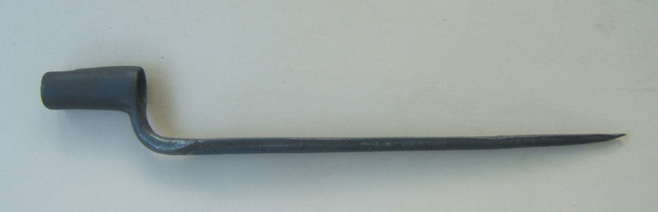 A COLONIAL AMERICAN-MADE REVOLUTIONARY WAR PERIOD BAYONET, ca. 1770s view 1