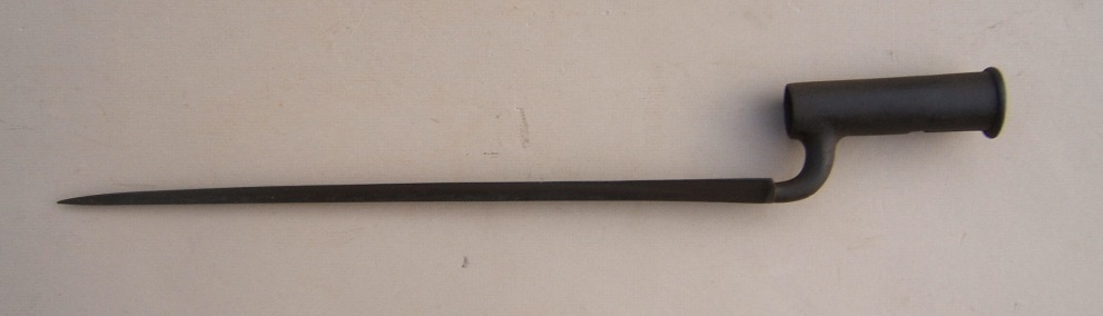 "A VERY GOOD REVOLUTIONARY WAR PERIOD 2nd MODEL (SHORTLAND PATTERN) BROWN BESS BAYONET, by ""HARVEY"", ca. 1770 view 1"