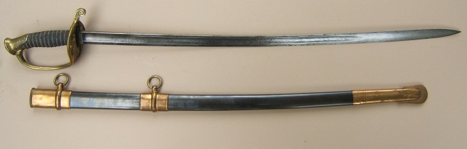 "A VERY FINE QUALITY US CIVIL WAR PERIOD MODEL 1850 NON-REGULATION STAFF & FIELD OFFICER'S SWORD & SCABBARD, by ""HORSTMANN & SONS, PHILADELPHIA"", ca. 1860s view 1"