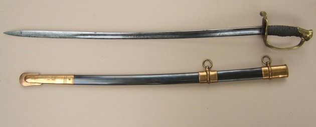 "A VERY FINE QUALITY US CIVIL WAR PERIOD MODEL 1850 NON-REGULATION STAFF & FIELD OFFICER'S SWORD & SCABBARD, by ""HORSTMANN & SONS, PHILADELPHIA"", ca. 1860s view 2"