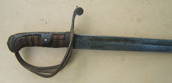 A VERY GOOD AMERICAN CIVIL WAR PERIOD MID-19th CENTURY CONTINENTAL EUROPEAN (FRENCH?) CAVALRY SWORD/SABER, ca. 1850 view 2