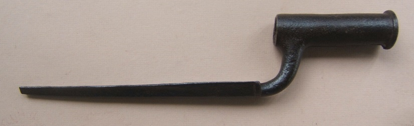 A REVOLUTIONARY WAR USED FIRST MODEL/LONGLAND PATTERN BROWN BESS BAYONET (FOUND at FORT TICONDEROGA), ca. 1760 view 1